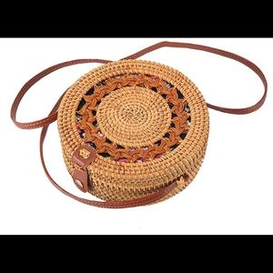 🌿Beautiful Rattan purse Handwoven  straw bag🌿